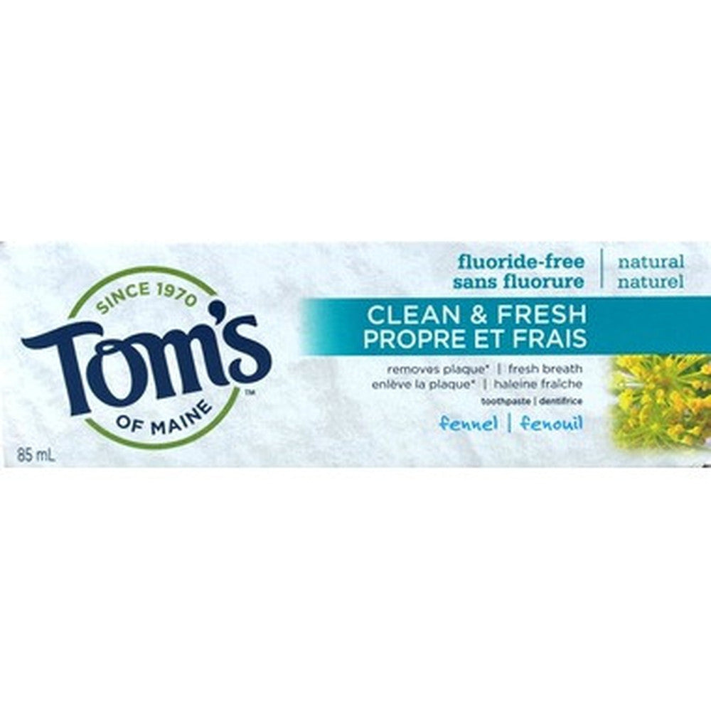 Tom's of Maine Clean & Fresh Fluoride-Free Toothpaste 85ML