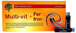 Bio Lonreco Inc. Mutli-Vit+Iron 20 x 10ML