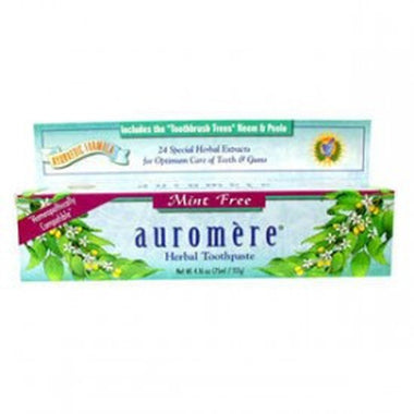 Auromere, Ayurvedic Herbal Toothpaste, Mint-Free, 117G