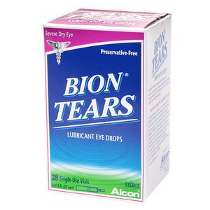 Bion Tears Lubricant Eye Drops, Single-Use Vials, 28 EA