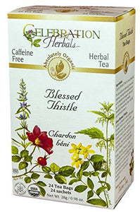 Celebration Herbals Blessed Thistle Tea Organic 24 Tea Bags