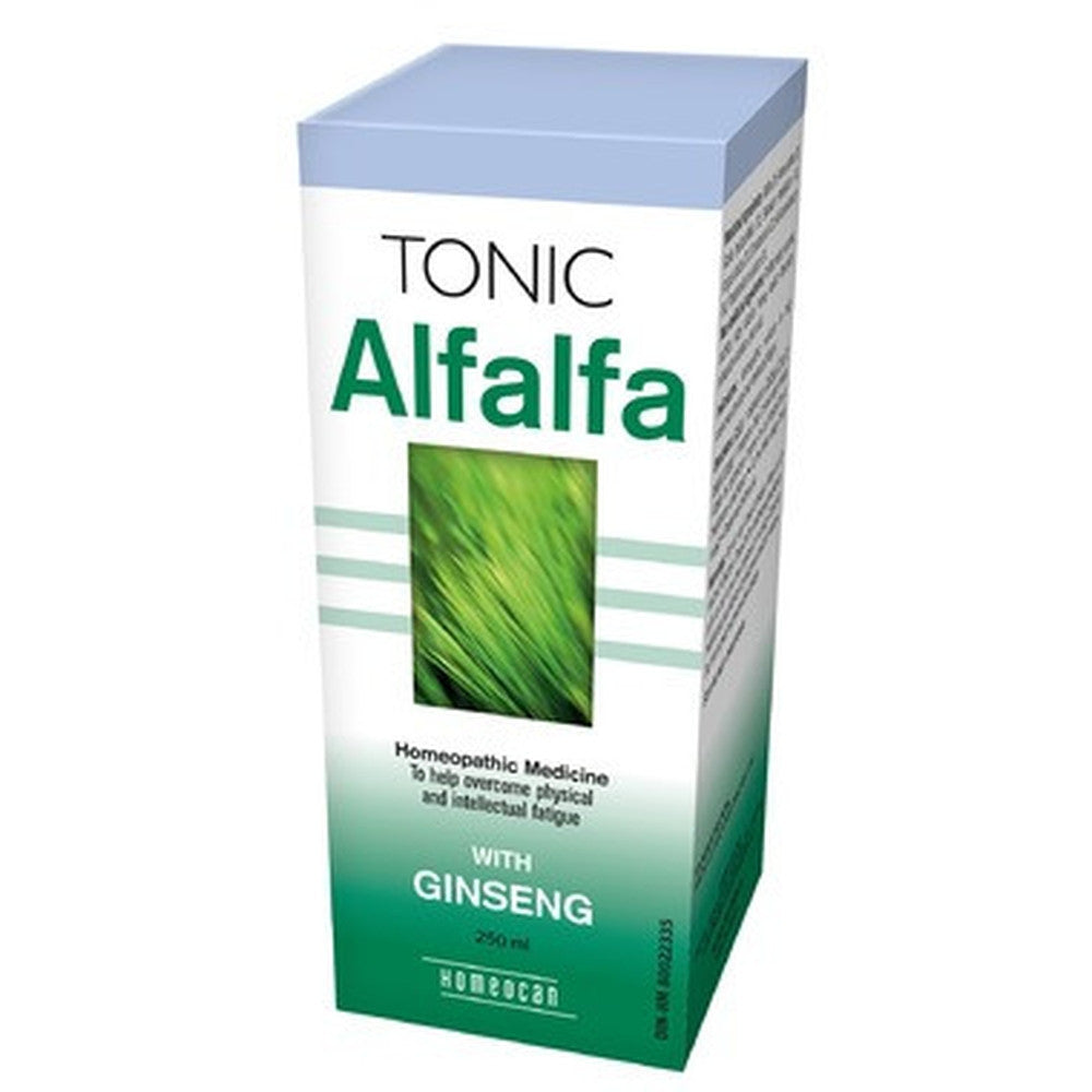 Homeocan Alfalfa Tonic with Ginseng, To Help Overcome Physical & Intellectual Fatigue 250 ML Bottles