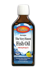 Carlson Labs The Very Finest Fish Oil Natural Lemon Flavor 500ML