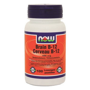 NOW Foods Brain B-12 Lozenges Cerveau B-12 1000MCG 100 Lozenges