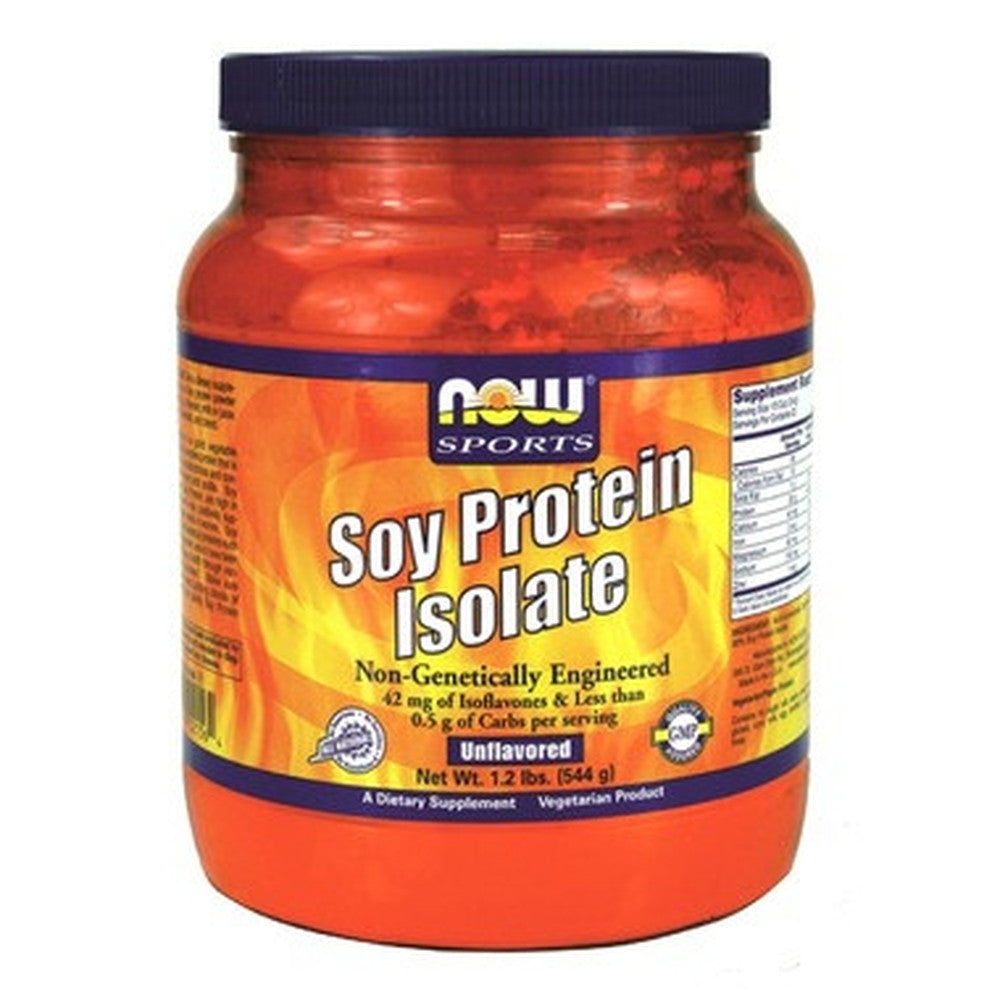 NOW Sports Soy Protein Isolate Powder 544g