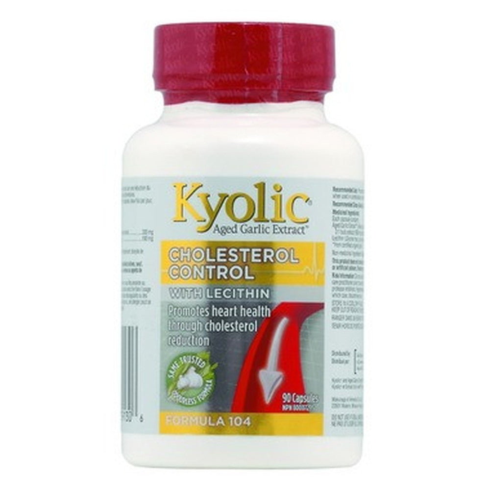 Kyolic 104 Cholesterol Control With Lecithin - 90 Caps