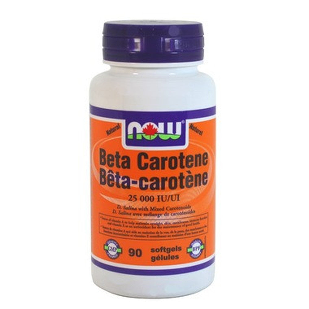 NOW Foods Natural Beta-Carotene, 90 Softgels