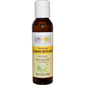 Aura Cacia Sweet Almond Oil 4 Oz