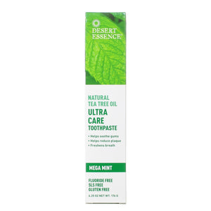 Desert Essence Tea Tree Toothpaste Ultra Care 6.25OZ
