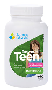 Platinum Teen Vitality For Young Women 60 Softgels