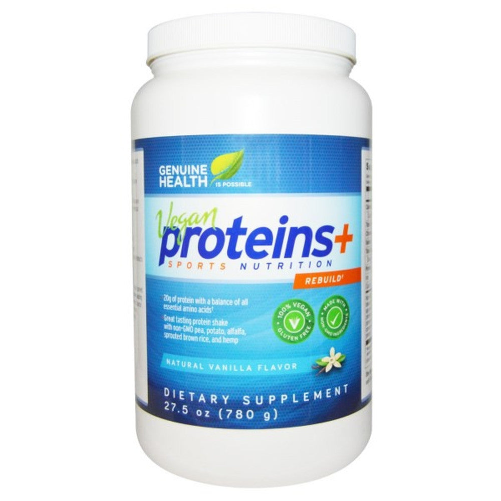 Genuine Health Vegan Proteins+ Natural Vanilla Flavor 33G