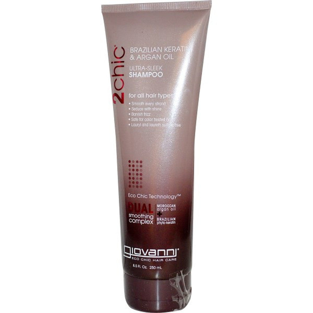 Giovanni, 2chic, Ultra-Sleek Shampoo, Brazilian Keratin & Argan Oil, 8.5 fl oz (250 ml)