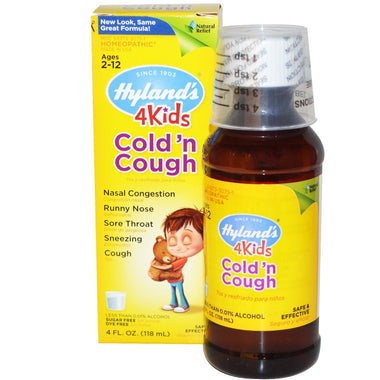 Hyland's 4 Kids Night Time Cough'n Cold Kids 118ML