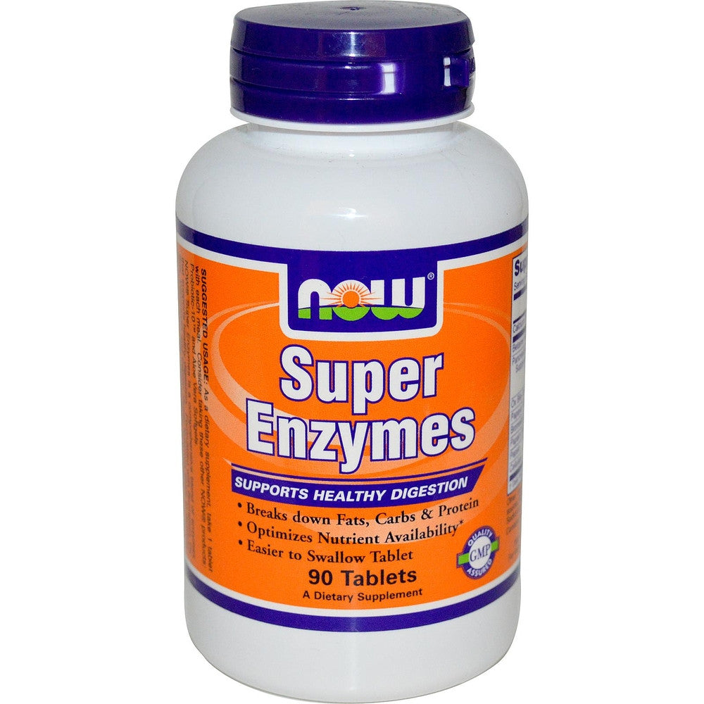 NOW Super Enzymes 750MG 90 Tabs