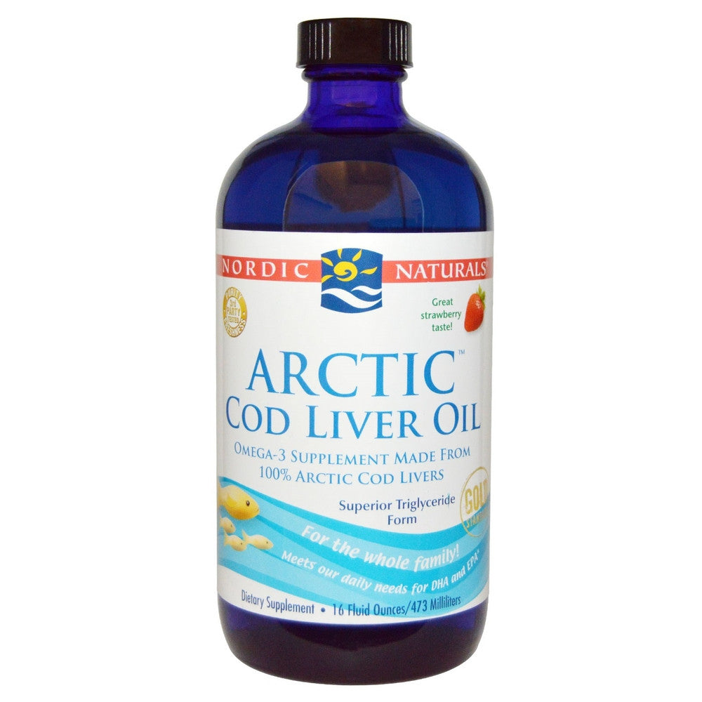 Nordic Naturals, Arctic Cod Liver Oil, Strawberry 237ML