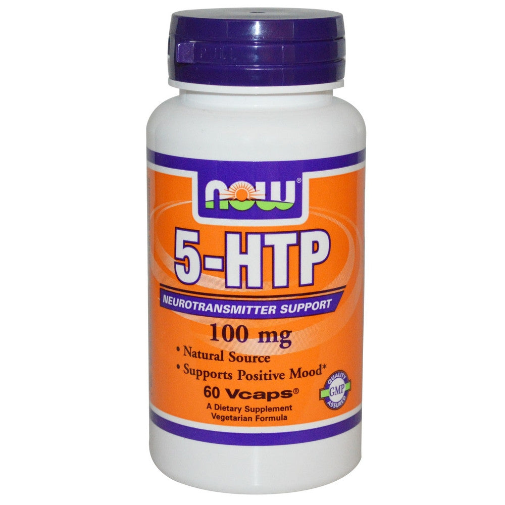 NOW, Stress-Relax, 5-HTP, 100 MG, 60 Enteric Coated Caplets
