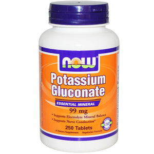 Now Potassium Gluconate 100 Tabs