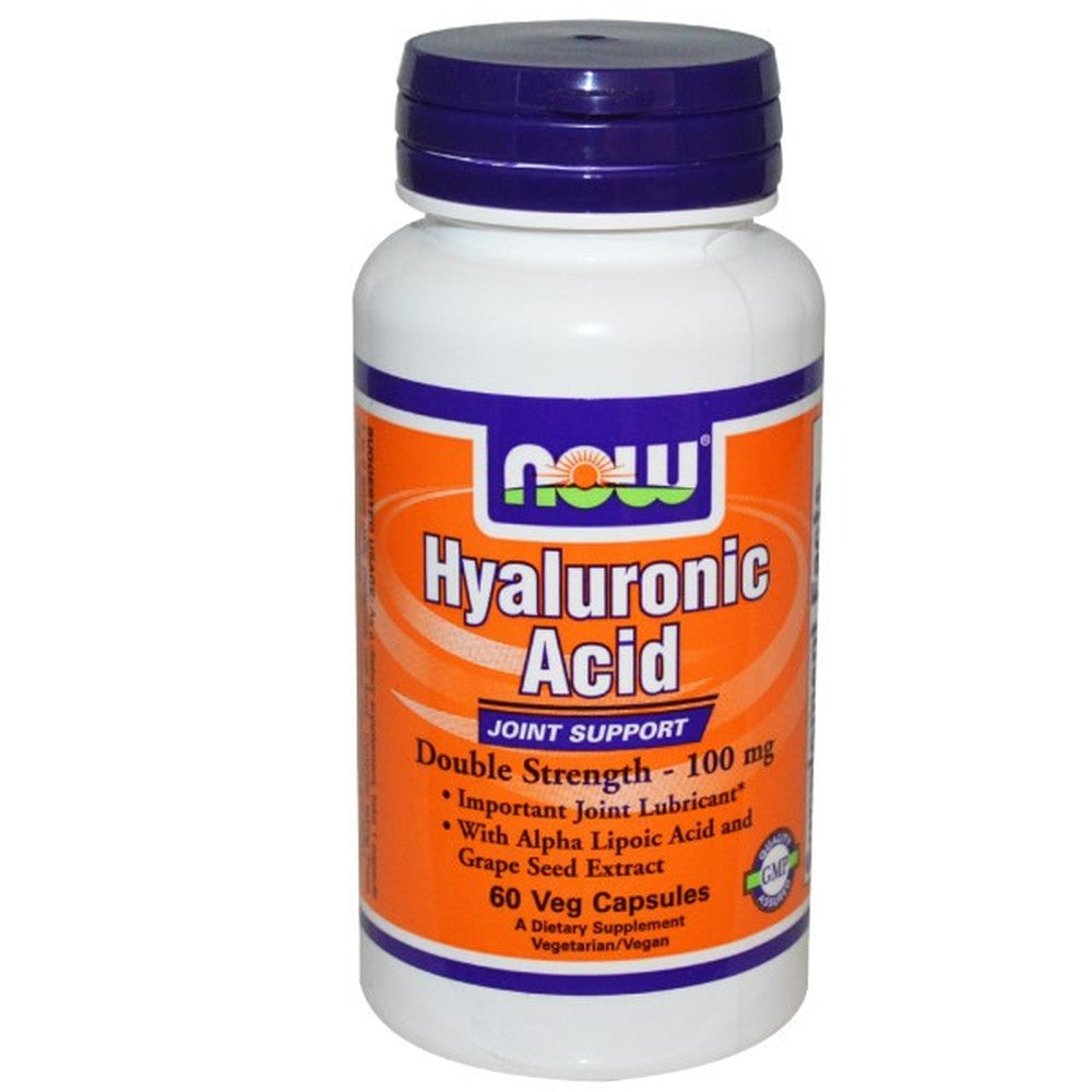 Now Foods, Hyaluronic Acid, Double Strength 100MG 60 Caps