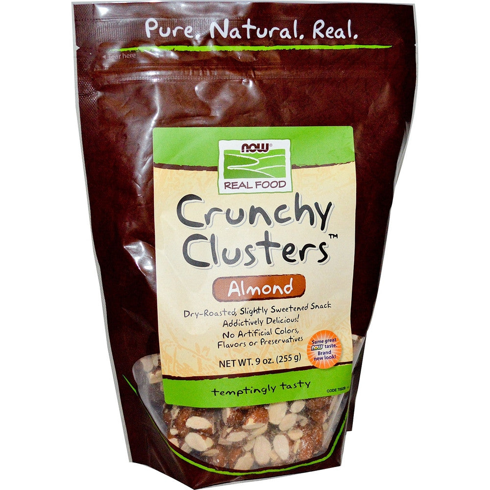 NOW Real Food Almond Crunchy Clusters 34 G