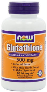 NOW Glutathione 500MG 60 Veggie Caps
