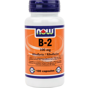 NOW B2-100mg-100 capsules