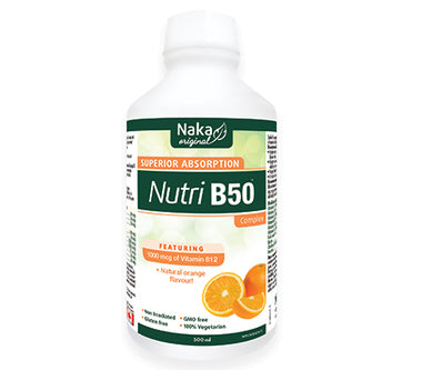 NAKA Nutri B-50 Complex 250 & 500ml orange flavor