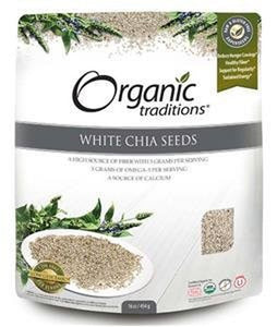 Organic Traditions White Chia Seeds 454G
