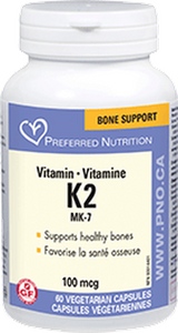 Preferred Nutrition Vitamin K2 100MCG 60 Caps