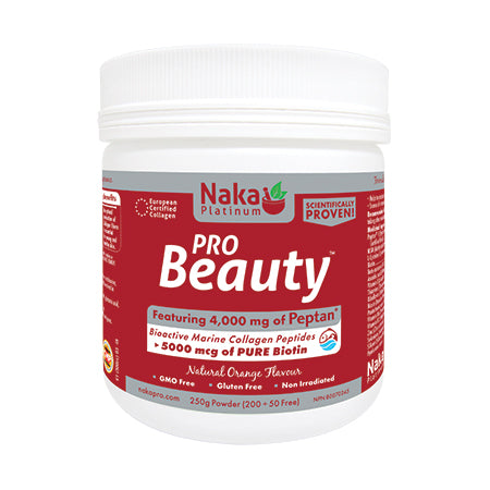 Naka Platinum Pro Beauty 250 gms powder - Orange Flavor