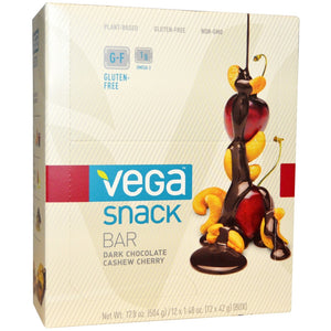 Vega Snack Bar, Chocolate Cashew Cherry, 12 Count