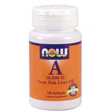 NOW Vitamin A 10000IU 100 Softgels