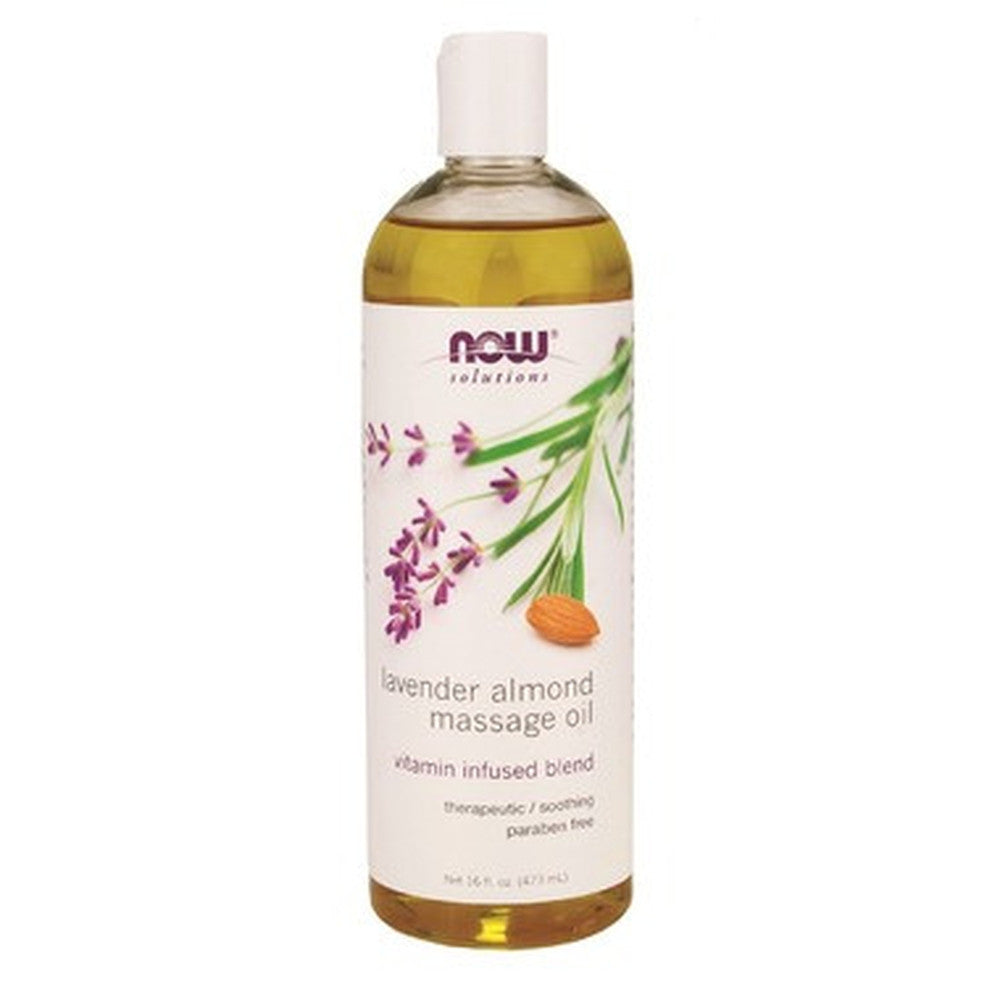NOW Solutions Lavender Almond Massage Oil 473 mL
