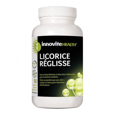 Innovite Health Licorice Plus Activated Charcoal 90 VCaps