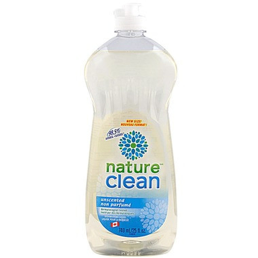 Nature Clean Dishwashing Liquid Unscented  740 mL