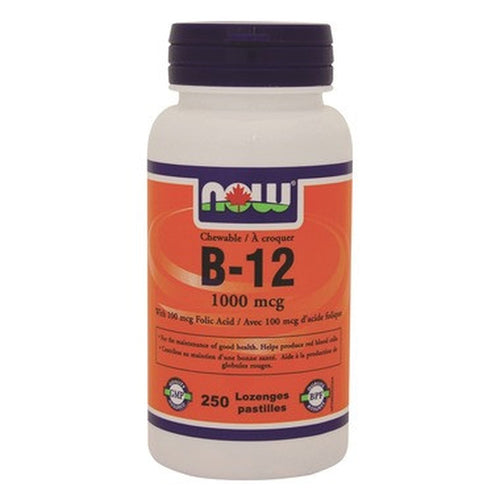 NOW B - 12 With Folic Acid 250 Lozenges