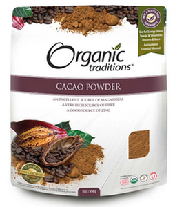 Organic Traditions Cacao Powder 454G
