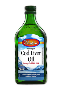 Carlson Norwegian Cod Liver Oil Unflavored 250 ml