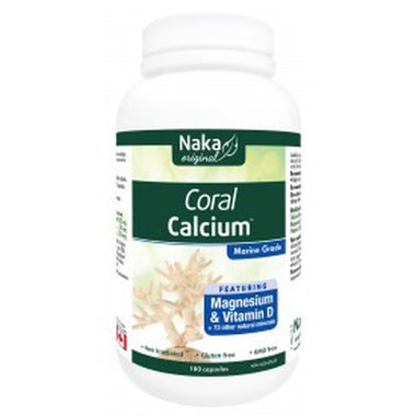 Naka Coral Calcium with Magnesium and Vitamin D Plus 73 Minerals 180 Caps