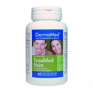 DermaMed Nutrition For Troubled Skin 60 Organic Soft Gel Capsules