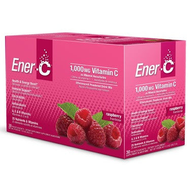 Ener-C 1,000mg Effervescent Drink mix 30 x 8.27 g Packs- Raspberry