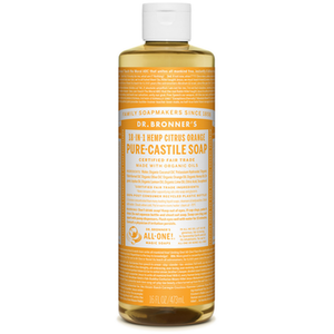 Dr. Bronner's Magic Soaps 18-In-1 Hemp Citrus Orange Pure Castille Soap, 473ml
