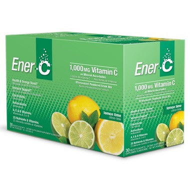 Ener-C 1,000 mg Effervescent Drink Mix,  30 x 8.27 g Packs -Lemon Lime