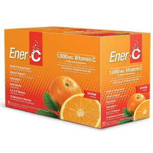 Ener-C 1000mg  Effervescent Drink Mix 30 x 8.27 g Packets - Orange
