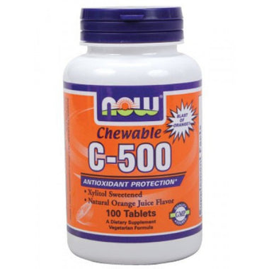 NOW Vitamin C-500 Orange Flavor 100 Chewable Lozenges