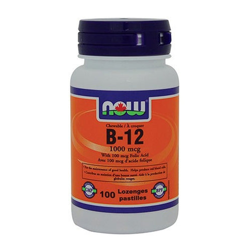 NOW B - 12 With Folic Acid 100 Chewables