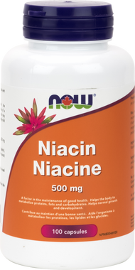 NOW Niacin250mg- 90 veg capsules