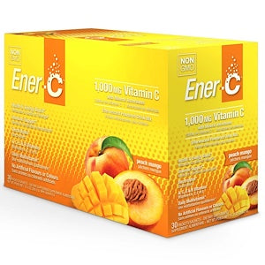 Ener-C 1000mg Effervescent Drink Mix  30 x 8.27 g Packs - Peach Mango