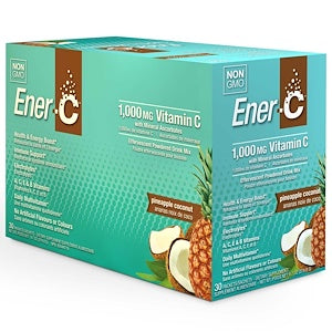 Ener-C 1000mg Effervescent Drink Mix  30 x 8.27 g Packs - Pineapple Coconut