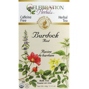 Celebration Herbals Burdock Root 24 bags ORG