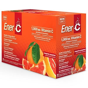 Ener-C 1000mg Effervescent Drink Mix  30 x 8.27 g Packs - Tangerine Grapefruit
